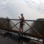 Cas on the bridge linking Zim and Zambia